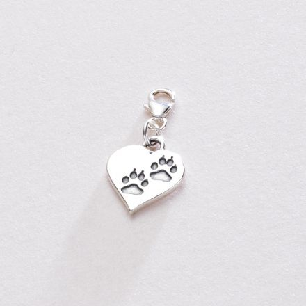 Pawprints on Your Heart Charm - Gift Boxed